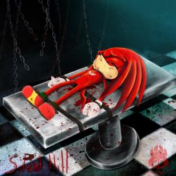 Knuckles In Silent Hill by wolfs-rain-amanda