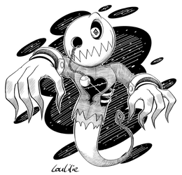 Inktober2018-Day 21 - Search Ghost by LouLilie