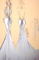 A wedding dress i designed by CharismaCox