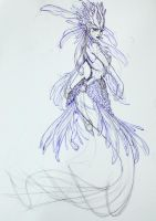 Nami, the Tidecaller, Red Lionfish Mermaid - WIP1 by Noctume