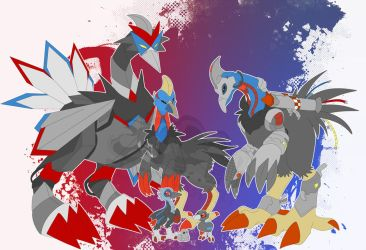 [c] Cassowary Digimon by glitchgoat