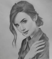 Lily Collins Portrait by sumauma