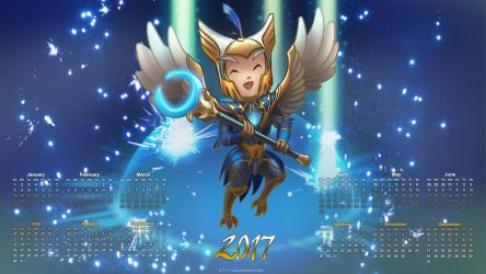Year of the Rooster / calendar 2017 by O-l-i-v-i
