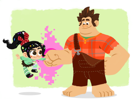 Top Shelf! - Wreck-It Ralph by GCrosbie