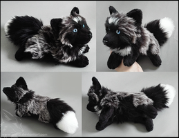 SOLD - Silver white mark fox (blue eyes) by CyanFox3