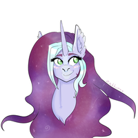 Comission- Galaxy Unicorn by Zakkurro