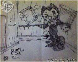 Fanart: Bendy and the Ink Machine 50/100 % by OliverArt1