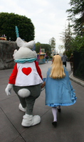 Alice and her rabbit by DisneyLizzi