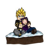 Minecraft Christmas Avatar - GoldSolace and AnonGG by GoldSolace