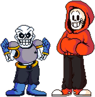 Shwapped Sans and Papyrus by flambeworm370