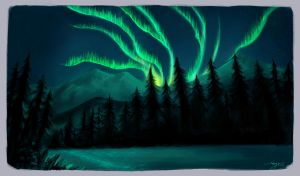 Northern lights - Study by Shaya-Fury