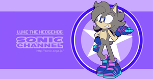 Sonic Channel Luke The Hedgehog by CuteyTCat