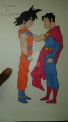 Super Man anfmd Goku by prime-player5