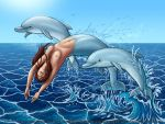 Commission - Marta and Dolphins from Cardan's Pod by Nightlyre