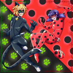 Ladybug and Chat Noir by Setsuna-Yena