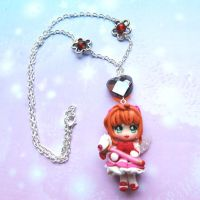 Handmade Card Captor Sakura necklace by SimonaZ