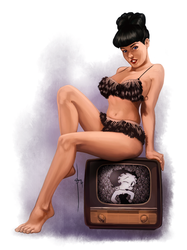 BETTIE PAGE WEEKLY TRINQUETTE DRAWING CHALLENGE by Braojos