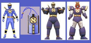 Mighty Morphin Alien Ninjor Ranger by Greencosmos80