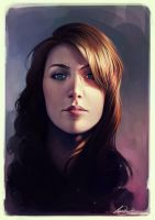 2DArtist Self Portrait by Charlie-Bowater