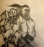 World of Warcraft - Orc Warrior by NessyBlah