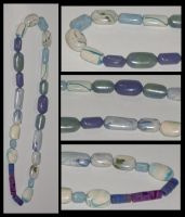 Marbled Clay Beads 1 by Catgoyle