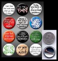 Princess Bride pinback buttons by eitanya
