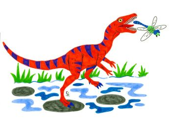 Nathan the Compsognathus by Erikku8