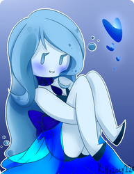 .:Aqua Marrine Sapphire:. Wanna watch me float? by kittyzoey