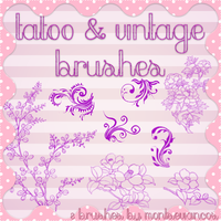 Tatoo And Vintage Brushes by Montsecyrus