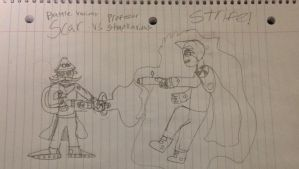 Battle V. Scar vs Prof. Stunkavious STRIFE!! by StantheSpider