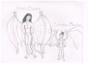 Noel and Malakai Maza by Wcatgal