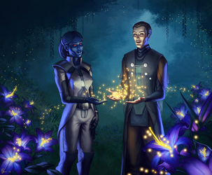 Commission - SWTOR - Dor'eell and Vector by KaraNan