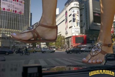 Giantess Alessandra in Japan by lowerrider