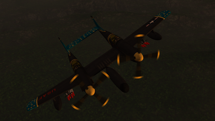 Daz Caparros P 82 Twin Mustang Night Prowl 1 by anthsco