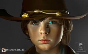 The Walking Dead Chandler Riggs Smudge Cropped 2 by sunnyside2488