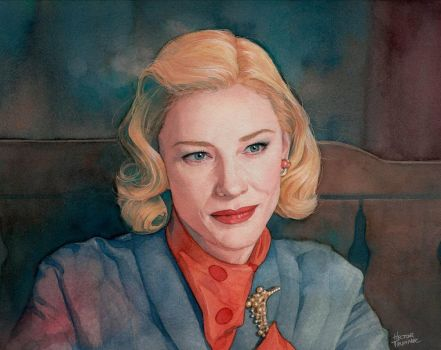 Cate Blanchett watercolor by Trunnec