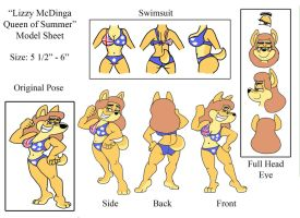 Lizzy McDinga Queen of Summer Model Sheet by shinragod