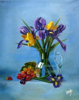 Irises and grapes by v-a-m-p-i-r-o