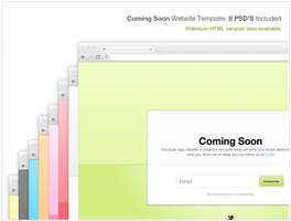 COMING SOON WEBSITE TEMPLATE (PSD) by FreePSDDownload