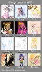 Things I Made In 2012 by Moonie-Dreamer