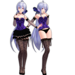 MMD Tda Dress-Lingerie Haku by LadyLukaOwO