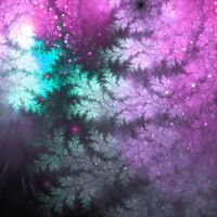 Fractal tree branches with glitter by KeilaNeokow