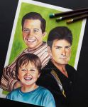 Two and a half men by artsarak