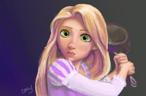 Tangled FRYINGPAN by EmmilyTM