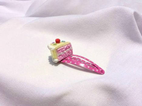 Cherry Cake Hairclip by ThePrettiestSalad