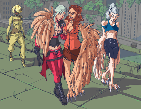 Strolling with Harpies by Neriah