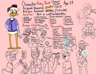 Huey Duck (Team Avatar) by GinYang
