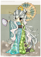 Eighteenth DColor - The Magnificent Kimono by LordNobleheart