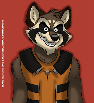 Rocket Raccoon by blake-illustrate