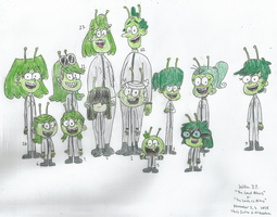 Loud Family as Aliens by WillM3luvTrains